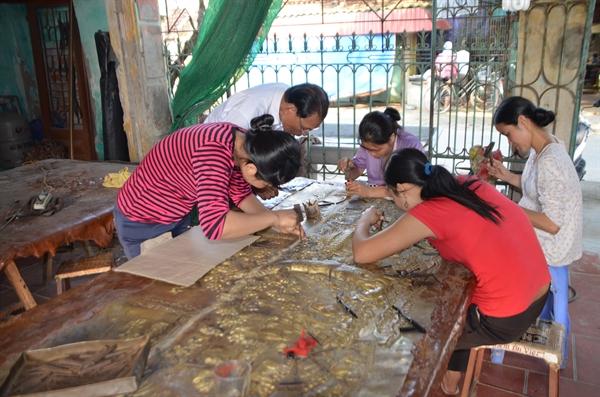 A traditional craft village in Thai Binh